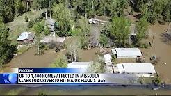 Flooding Clark Fork River hits drenches Missoula