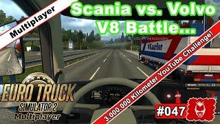 Euro Truck Simulator 2 #047 ✰ Scania vs. Volvo FH 16 Battle.. ✰ [ets2][Multiplayer]
