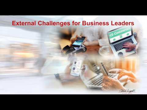 external challenges faced by business leaders Nonprofits' three greatest challenges april 2005 finding people to take on core leadership responsibilities and the challenges of moving the organization to the.
