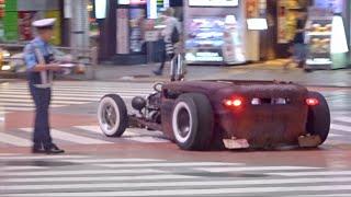 【渋谷】ローライダー他カスタムカー, スーパーカーがたくさん通過/Lowrider, Tuned car, Supercars arriving in Shibuya. thumbnail