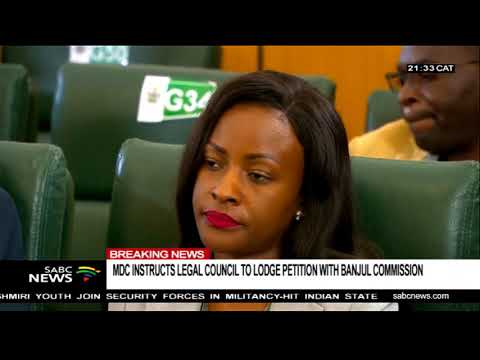 MDC instructs legal council to lodge petition with Banjul commission