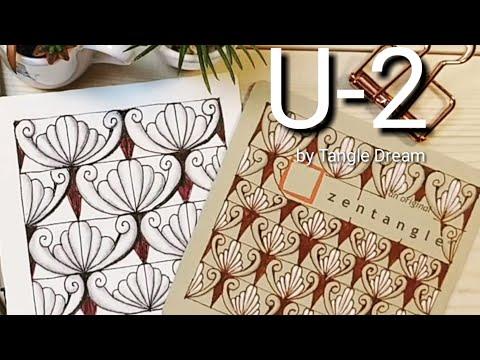 How To Draw Tangle Pattern 'U-2'