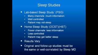 Obstructive Sleep Apnea Part 3: Sleep Studies