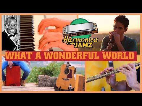 What a Wonderful World: HARMONICA cover, piano & flute, enjoy!