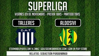 TALLERES VS ALDOSIVI EN VIVO SUPERLIGA 2018