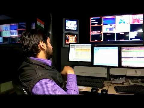 News channel ka PCR yani production control room