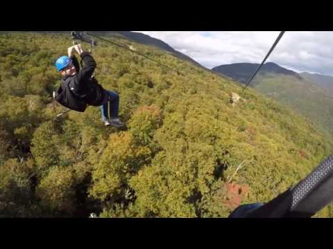 Zip Lining at Stowe Mountain VT (ZipTour) 9/24/16