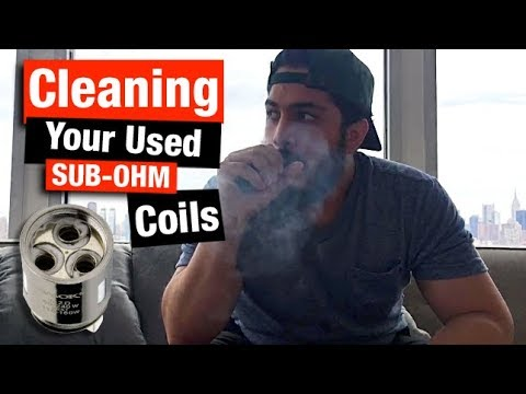SAVE MONEY! How To Clean Your Sub-Ohm Tank COILS