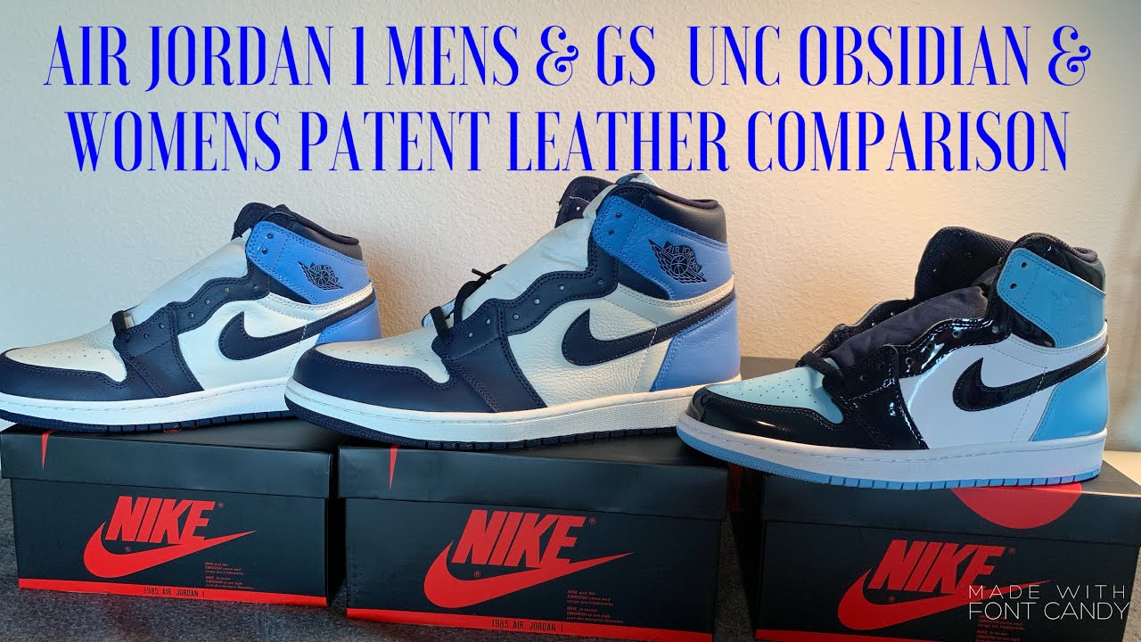 Air Jordan 1 Unc Obsidian Mens And Grade School Review Also Womens