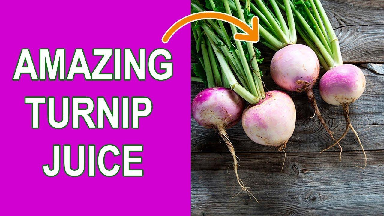 turnip juice benefits and turnip juice recipe