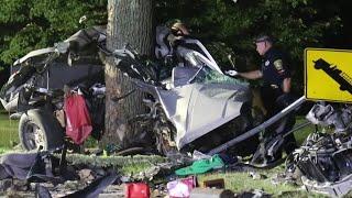 Vehicle destroyed in fatal high-speed crash
