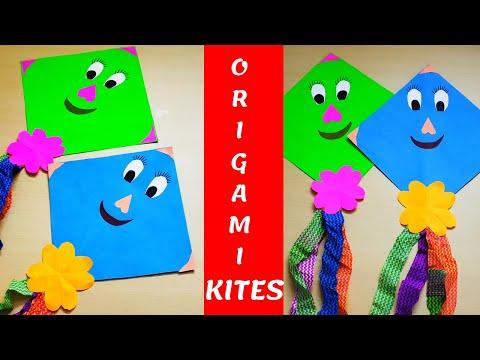 DIY MAKAR SANKRANTI/PONGAL KITE DECORATION || CARTOON KITES FOR KIDS|| KIDS READY TO FLY KITES???