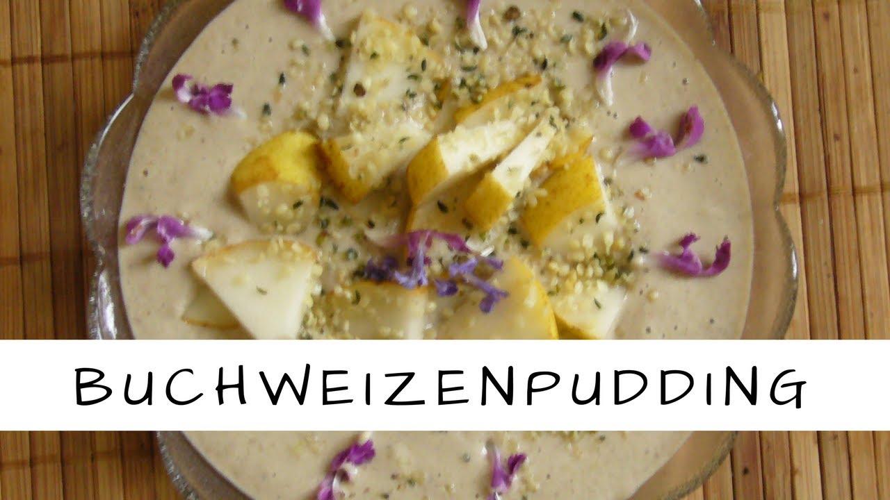 Vegane Rohkost: Buchweizenpudding mit Brennnesseln und Blüten