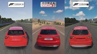 Forza 6 vs Forza Horizon 3 vs Forza 7 - 2011 Audi RS3 Sportback Sound Comparison