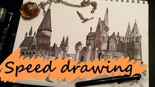 SPEED DRAWING | Hogwarts Castle