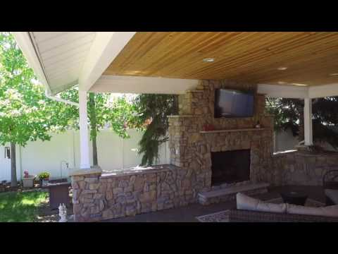 Ogden Covered Patio with Fireplace for Year Round Outdoor Entertaining