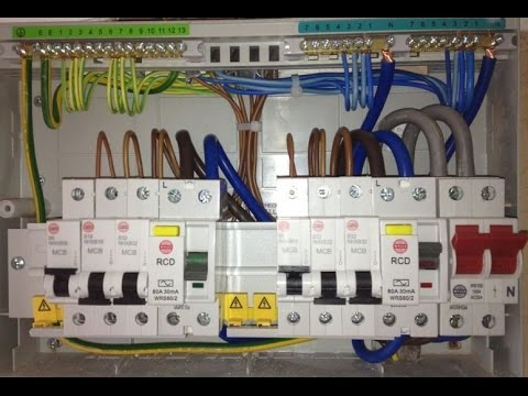 rcd wiring installation in distribution board hindi urdu video rh youtube com house distribution board wiring diagram AC DC Distribution Board