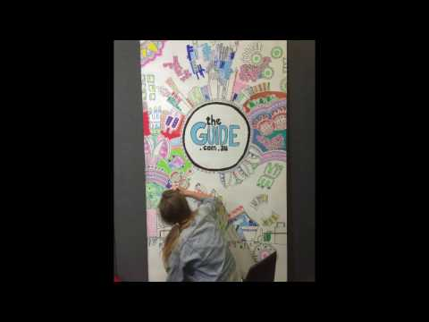 THEGUIDE.COM.AU MURAL - compliments of Perth artist Molly Broun
