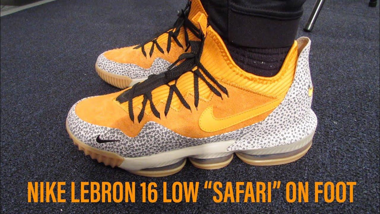 "1ed92b0e26cd5 NIKE LEBRON 16 LOW ""SAFARI"" ON FOOT (REVIEW) - YouTube"