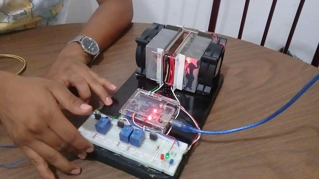 Control de temperatura celda peltier arduino youtube - Aire acondicionado humidificador ...
