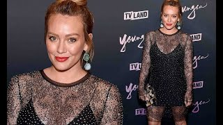 Hilary Duff flashes the flesh in eye-popping couture