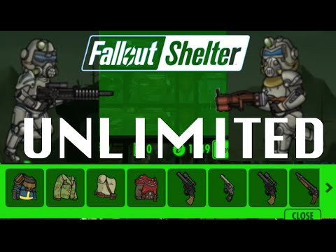 How to get UNLIMITED Weapons & Outfits in FALLOUT SHELTER Gl