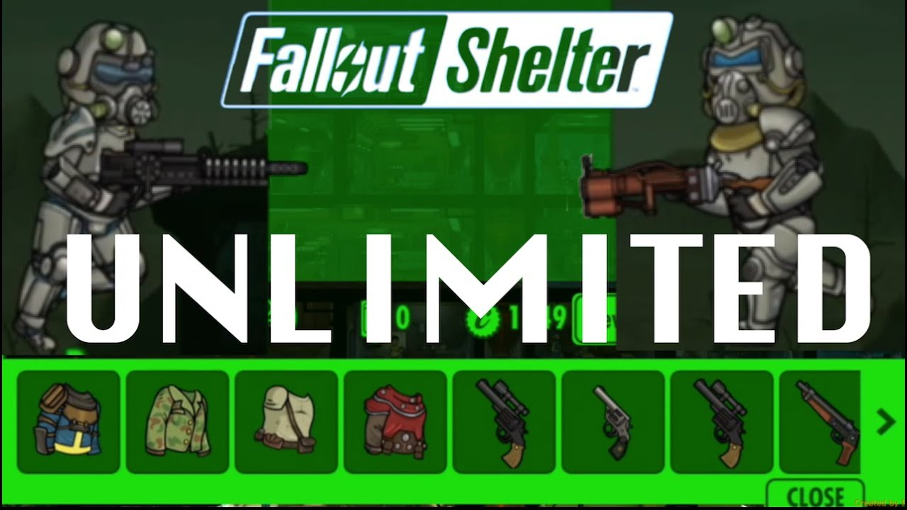 How to get UNLIMITED Weapons &amp; Outfits in <b>FALLOUT SHELTER</b> Glitch ...