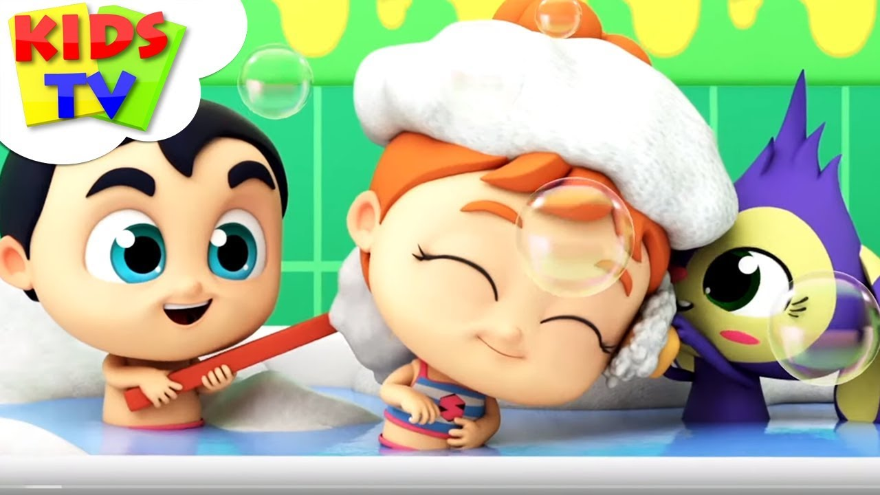 Baby Bath Time | Bath Song | The Supremes | Cartoon Videos | Songs for Babies - Kids TV