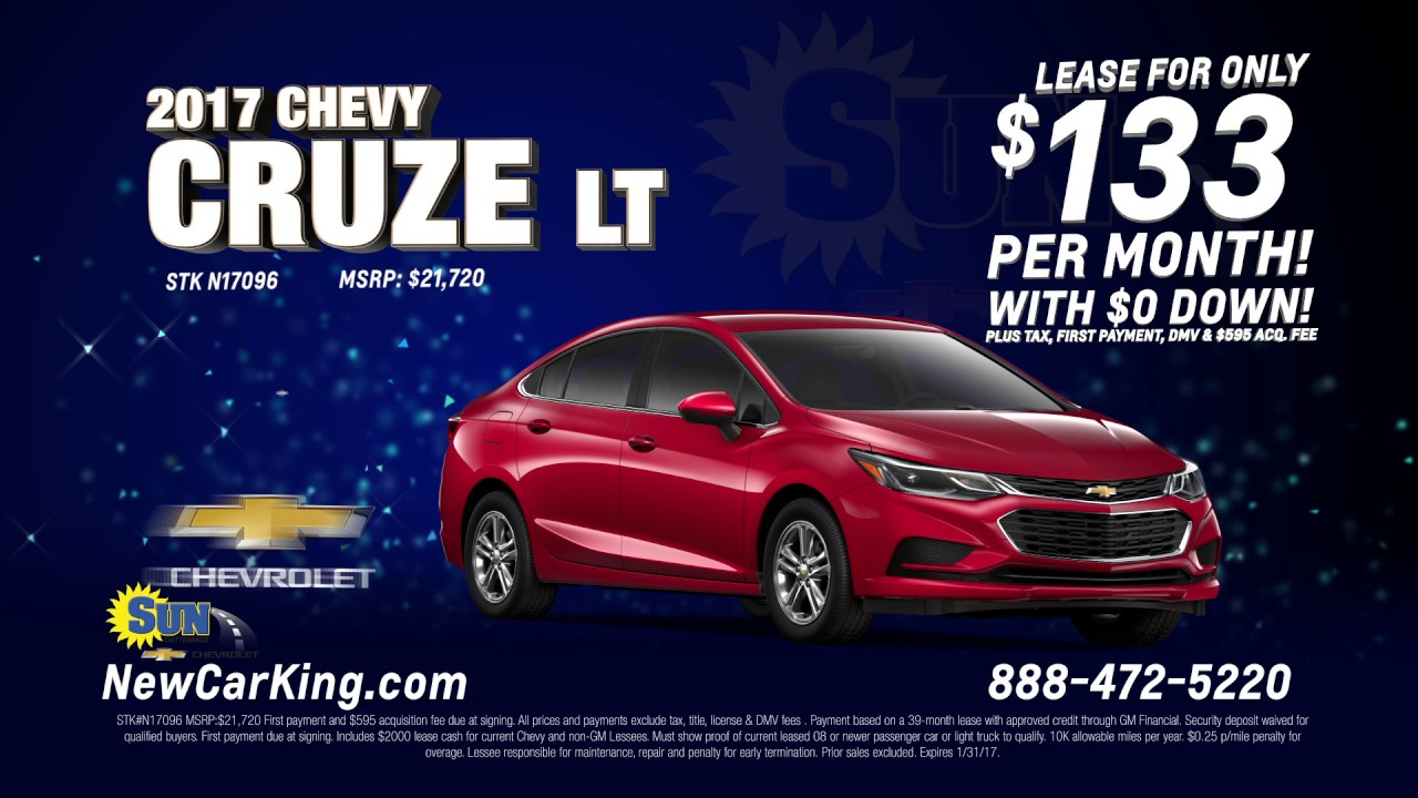 Chevy Cruze Lease >> Lease A 2017 Chevy Cruze Lt For Just 133 Per Month Youtube