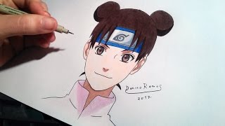 How to draw Tenten | speed drawing