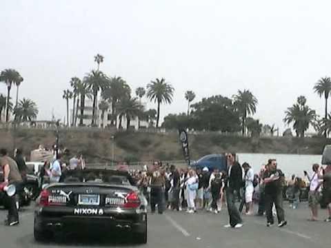 Gum Ball 3000 Race start, RB Tech, Porsche,  Santa Monica to Vegas