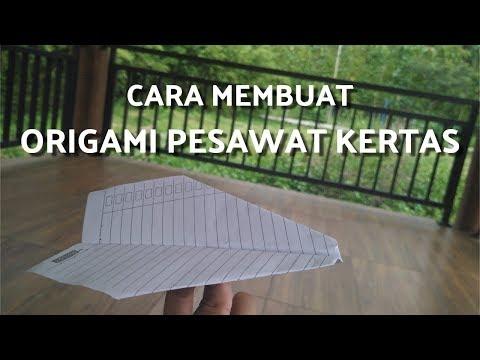 Cara Membuat Origami Pesawat Kertas Dengan Mudah | Origami Plane Paper