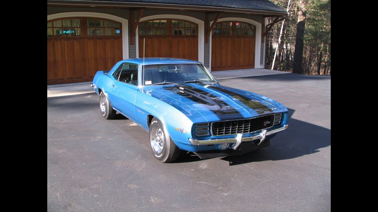 1969 Camaro Z 28 Rally Sport Lemans Blue Black Int S