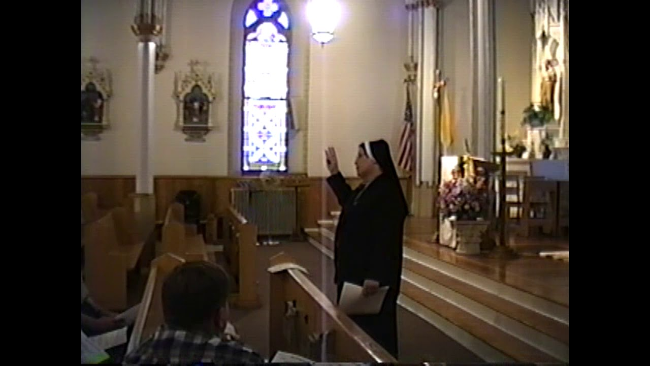 Sr. Votraw at St. Mary's  4-16-02