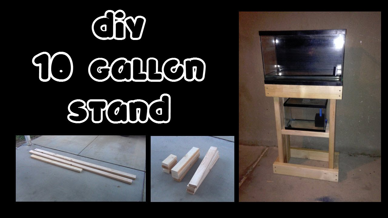 Diy 10 Gallon Stand Youtube