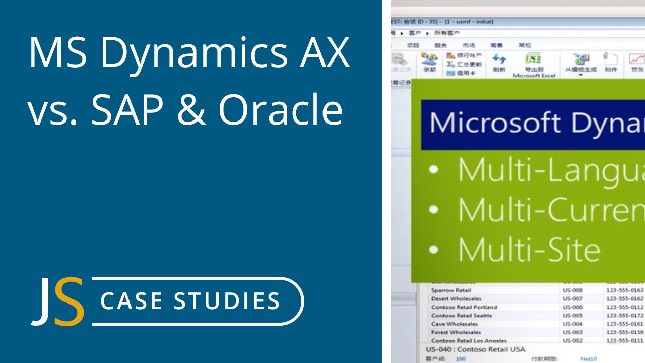 Dynamics AX vs  SAP and Oracle
