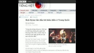 04-04-2011 - BBC Vietnamese - Bob Dylan lần đầu tới biểu diễn ở Trung Quốc