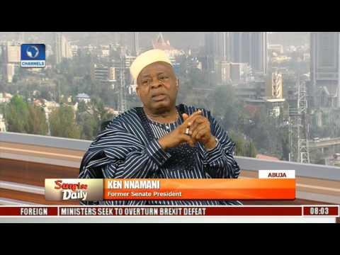 Former Senate President Ken Nnamani Speaks On Electoral Reforms Pt. 2