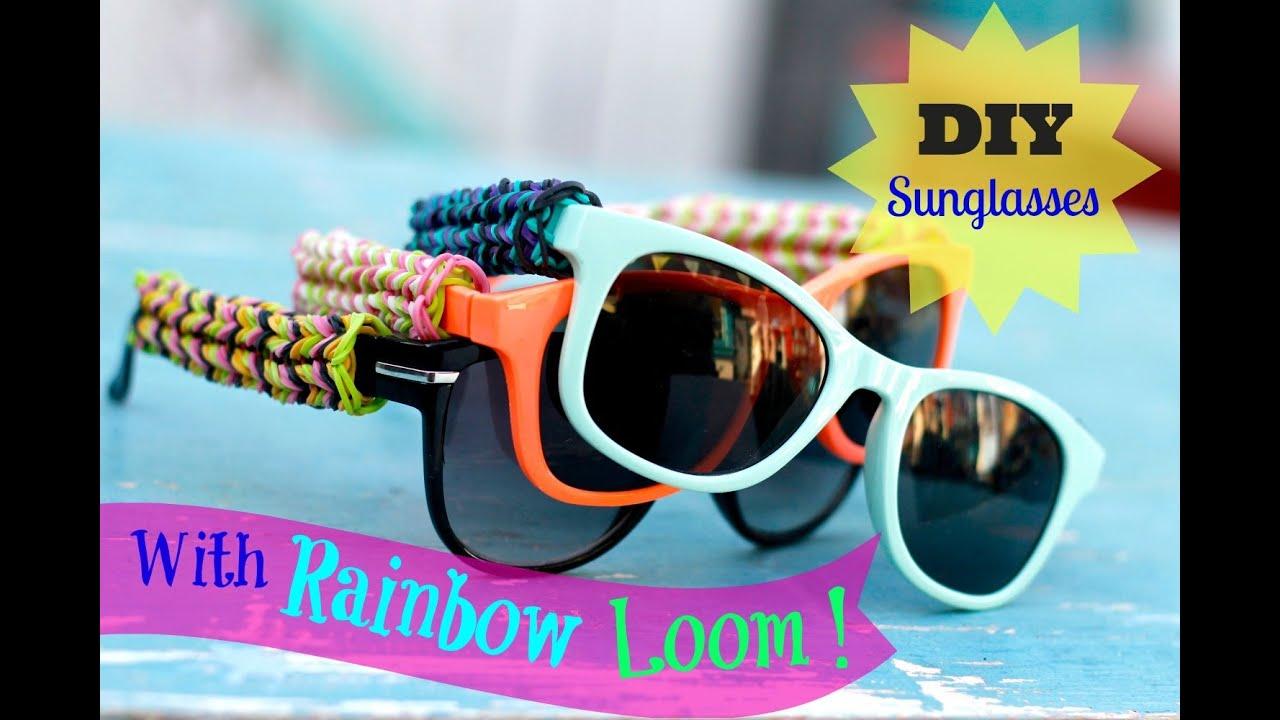 b84cad8481 DIY Rainbow Loom Sunglasses with fishtail design! Original concept ...