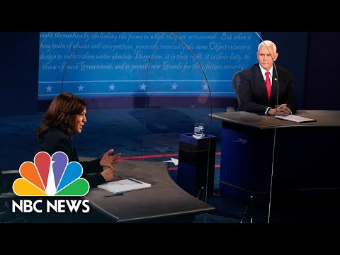 'They Don't Believe In Science': Harris, Pence Questioned On Climate Change | NBC News