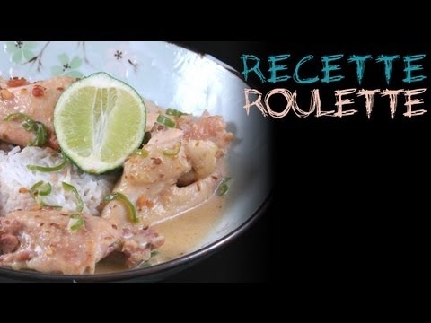 Recette : Poulet thaï sauce cacahuètes !
