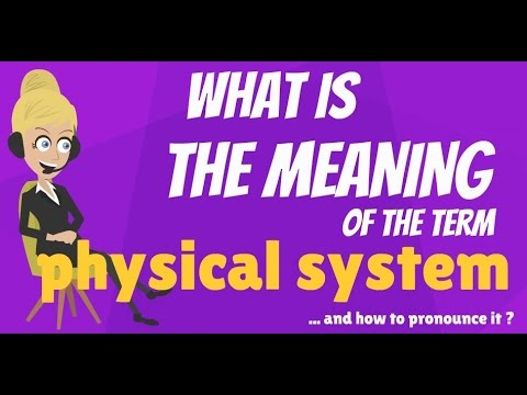 What is PHYSICAL SYSTEM? What does PHYSICAL SYSTEM mean? PHYSICAL SYSTEM meaning & explanation