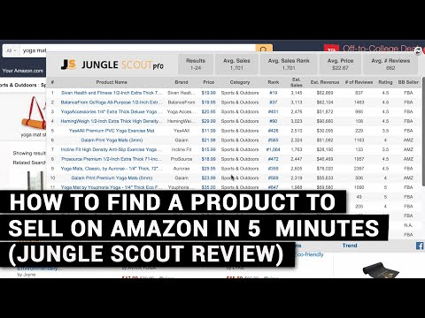 How To Find A Product To Sell On Amazon In 5 Minutes (Jungle Scout Review)