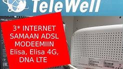 Kolme nettiä samassa Telewell modeemissa
