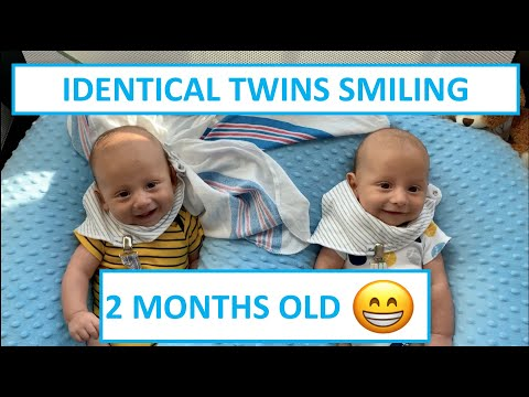 Two Month Old Twins Smiling