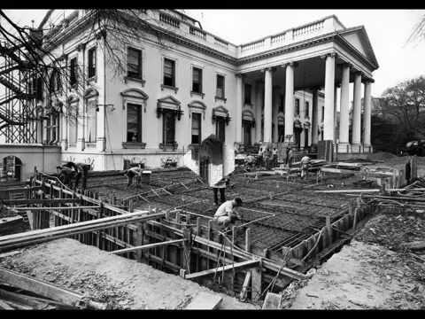 Rebuilding of WhiteHouse -1940's - YouTube 1940s White House Scottie