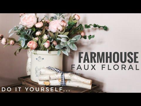 D.I.Y. Floral Arrangements | Spring + Farmhouse Floral