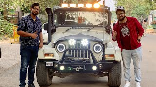 Modified Mahindra Thar | Thar With Full Lighting Setup | Thar With Fibre Hard Top | Get Featured