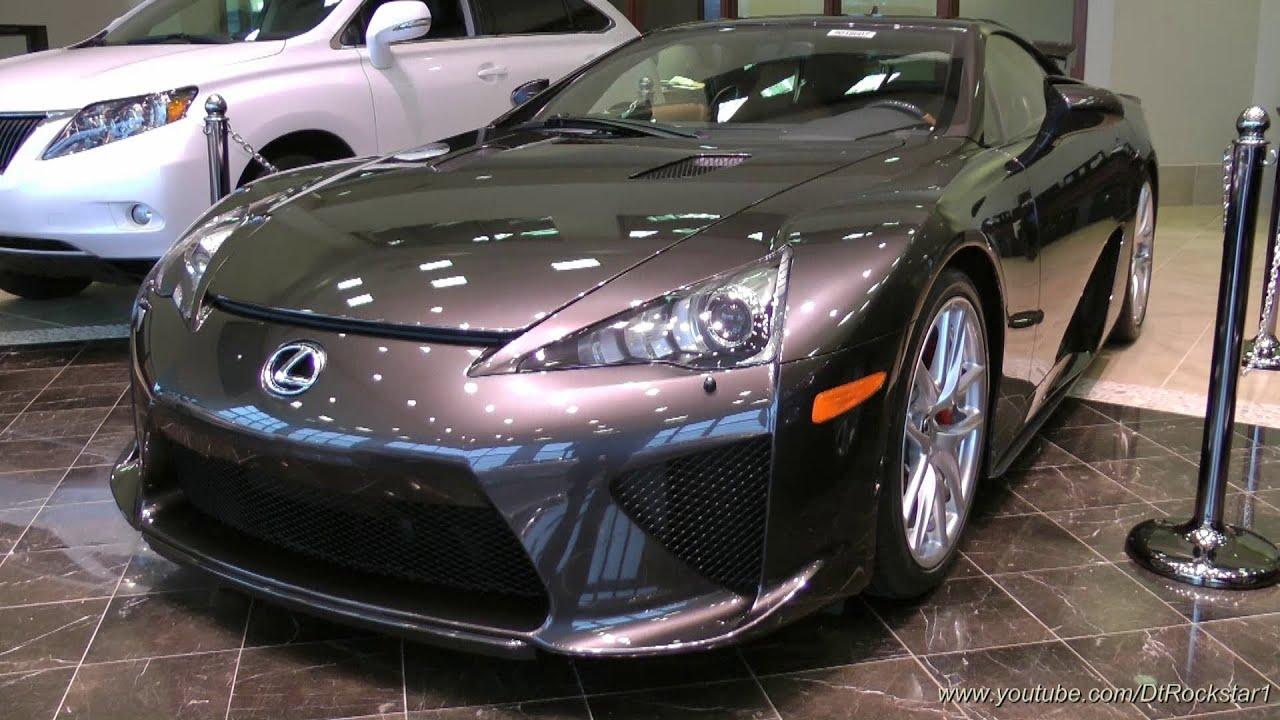 Lexus LFA: The ONLY LFA painted Brownstone!!! - YouTube