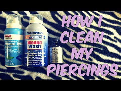 How I Clean My Piercings | Daith, Conch, & Tragus